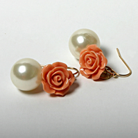 RESERVED Romance reworked vintage earrings