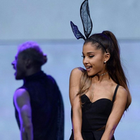 Ariana Grande in my Black Lace Bunny Rabbit Ears Headband...