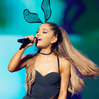 Ariana Grande Black lace bunny ears headband.