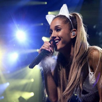 Ariana Grande white lace cat ears headband.