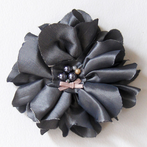 Dove Grey Hair Corsage