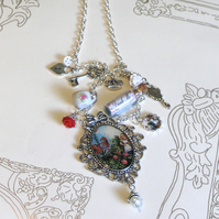 Alice in Wonderland charm necklace.