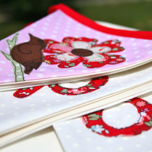 Personalised Fabric handmade bunting. For Poppy.