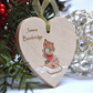Personalised Christmas Mouse Heart