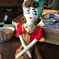 1940s Land Girl Rag doll