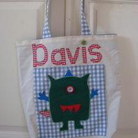 Max the Monster Personalised Tote Bag