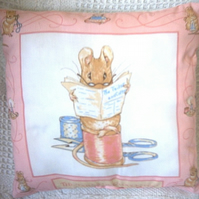 Beatrix potter tailor of Gloucester cushion