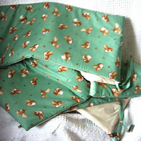Beatrix potter Squirrel Nutkin on Green cot bumpers