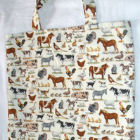 On the Farm cloth shopping bag