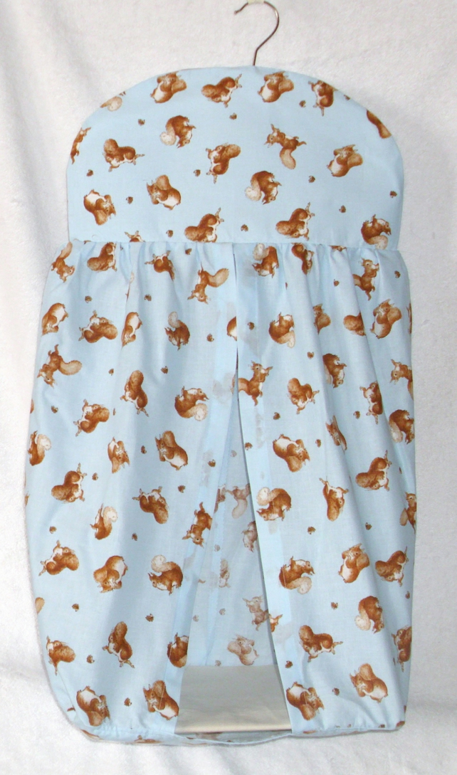 Beatrix potter Squirrel Nutkin on Blue Nappy Stacker