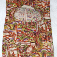 In an exotic garden  fabric peg bag
