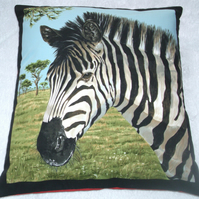 On Safari Zebra cushion