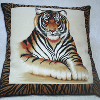 On Safari  magnificent Tiger cushion