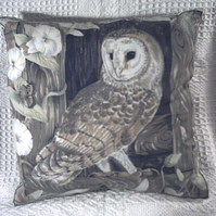Beautiful Barn owl in barn window cushion ( very rare)