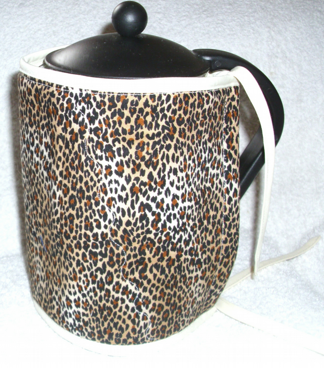 Cheetah print cafetiere wrap