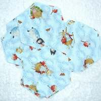 pack 28 Beatrix Potter Pigling Bland and friends patchwork hexagons for quilting