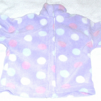 lilac spot fleece jacket, age 2 to 3