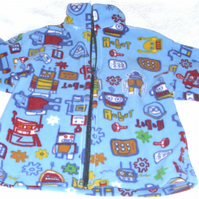 Robots fleece jacket, age 5