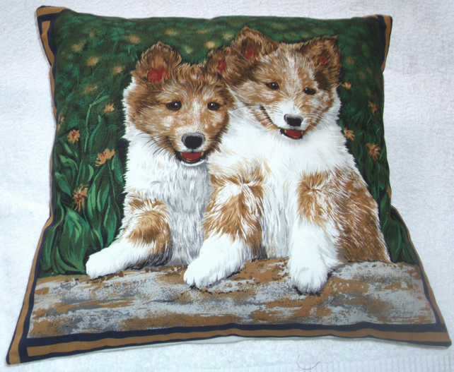 Lovely Corgi pups waiting for some fun cushion