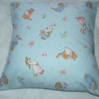 Beatrix Potter Tom Kitten, Moppet and Mittens and Puddle Ducks cushion