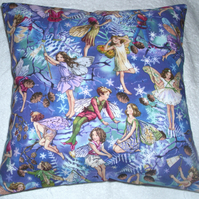 Pretty Flower Fairies  on Lilac cushion