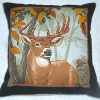 A Stag facing front right cushion