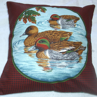 Three Teal paddling cushion