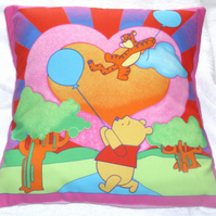 Winnie the Pooh with Tigger cushion