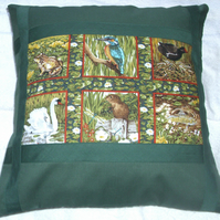 Friends of the riverbank cushion