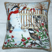 Mr Snowman and friends cushion