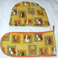 Doggy Portraits Tea cosy and ovengloves