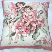 Apple Blossom Fairies cushion