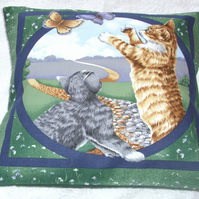 Pretty Kitties and Butterflies Cushion