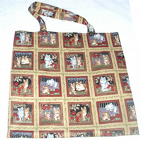 Cats and Kittens cloth shopping bag