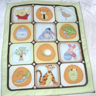 Winnie the pooh and friends cot quilt