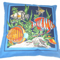 From the  sea, Tropical Fish cushion