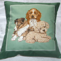 Puppy dogs waiting for some fun cushion