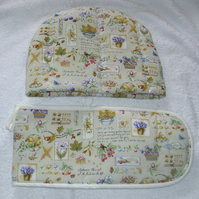 Autumn Days Tea cosy and oven glove set
