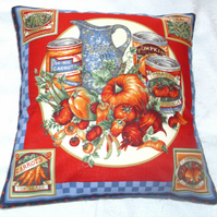 Country vegetables and soups cushion