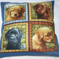 Labrador Puppy love cushion.