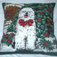 A shaggy Dog Story at Christmas cushion