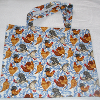 French Hens shopping bag