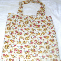 sea shells on the sandy seashore cloth bag
