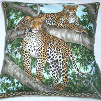 On Safari Leopards in a tree cushion