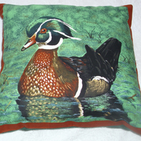 A Wood Duck paddling cushion