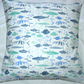 On the Oceans  fish in the oceans cushion