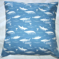On the Oceans Whales and Dolphins in the oceans cushion