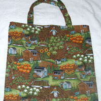 On the allotments shopping bag