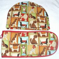 Fancy Dogs Tea cosy and ovengloves