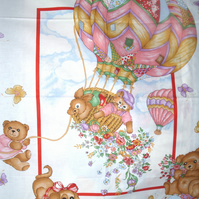 Up Up and away balloon ride cot quilt